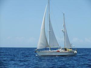 Lady Annila under sail